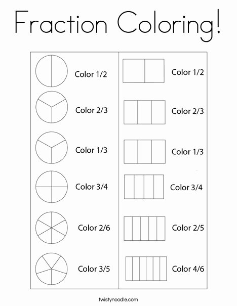 Fraction Coloring Worksheets 5th Grade Kids Fantastic Fraction Coloring Worksheets – Azspring