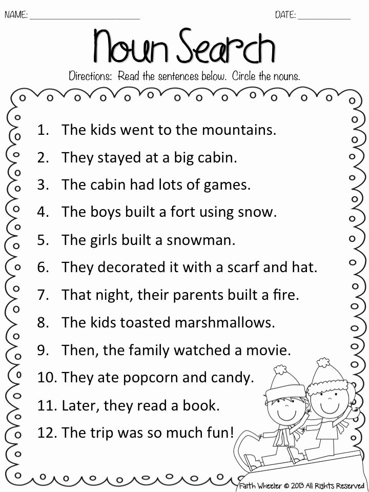 Fraction Worksheets for 1st Grade Fresh Fake Snow and Freebies with Kids Math Worksheets