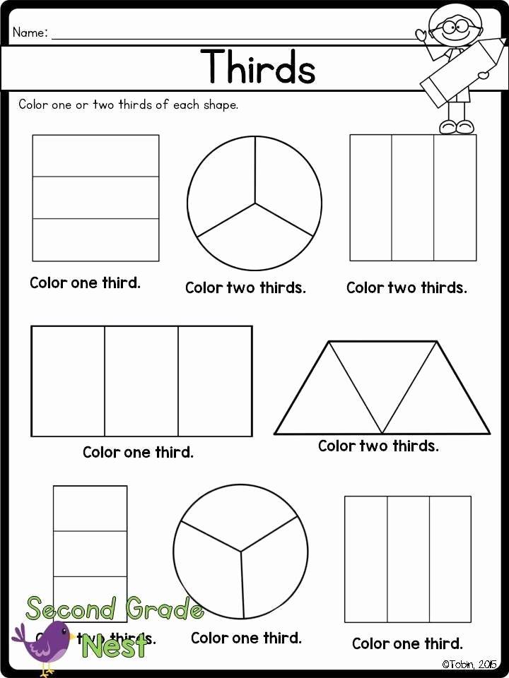 Fraction Worksheets for 1st Grade New Fractions Printables