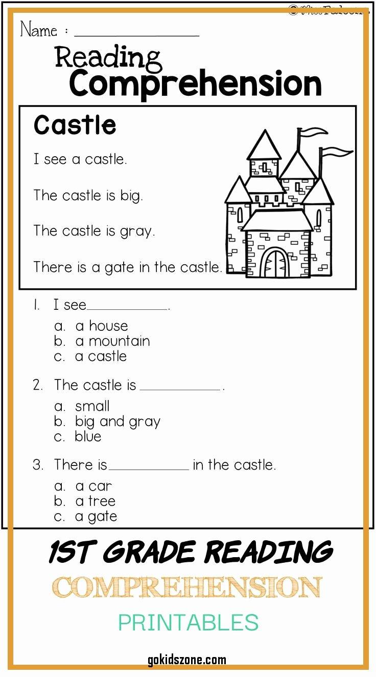 Free 1st Grade Comprehension Worksheets Fresh Free First Grade Reading Prehension Worksheets About