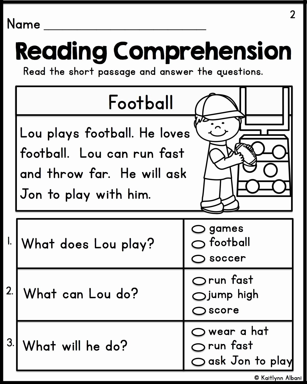 Free 1st Grade Comprehension Worksheets New Math Worksheet 1st Grade Reading Gamese Prehension