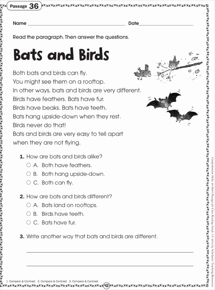 Free 2nd Grade Comprehension Worksheets top Free Printable Reading Prehension Worksheets for
