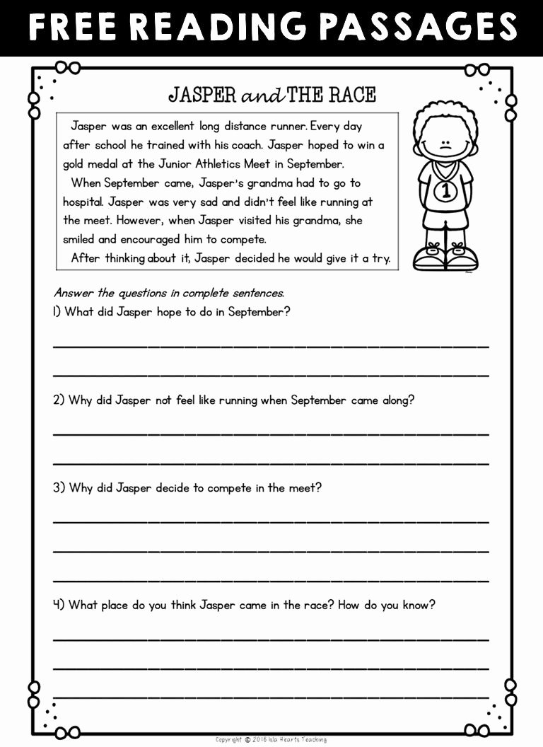 Free 2nd Grade Comprehension Worksheets top Worksheet Second Grade Reading Skills Checklist 2nd