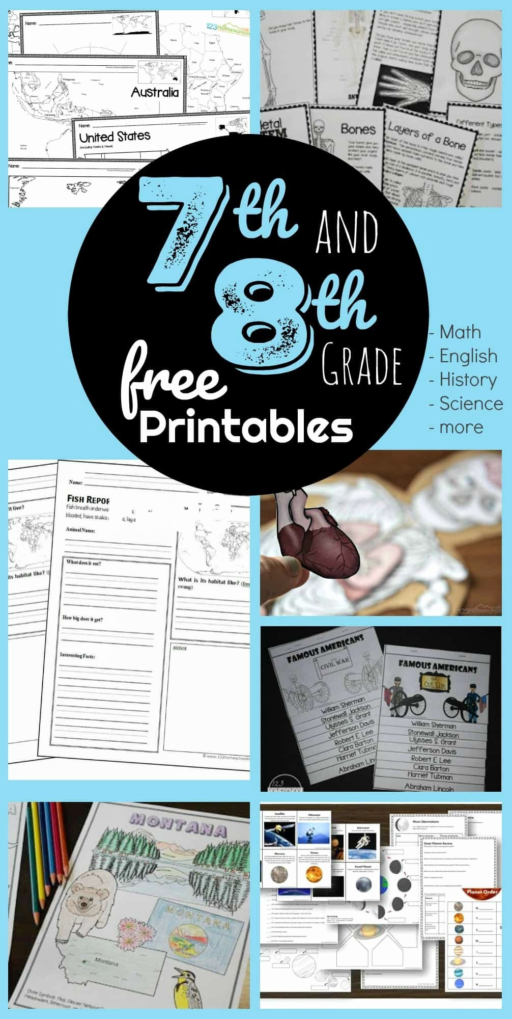Free 7th Grade Reading Worksheets top Free 7th & 8th Grade Worksheets