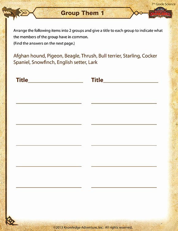 Free 7th Grade Science Worksheets Printable Group them 1 View Free 7th Grade Science Worksheet sod