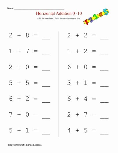 Free Addition Worksheets for Kindergarten Ideas Free Worksheets