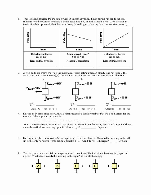 Free Body Diagram Worksheet Answers Best Of Free Body Diagram Worksheet Answers 28 [ Net force Diagram