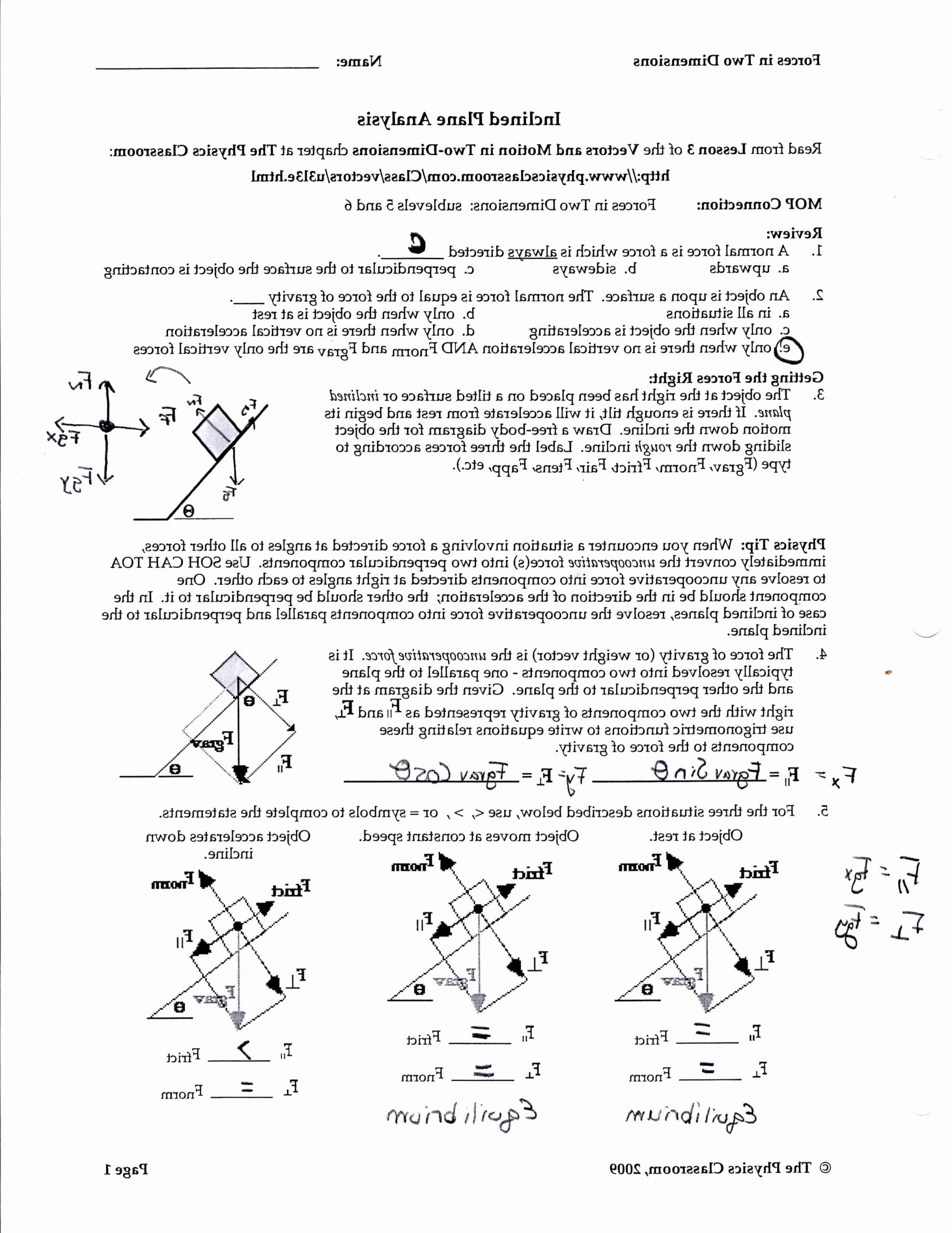 Free Body Diagram Worksheet Answers Free Ry 7530] to Freebody Diagrams Gt Practice Drawing Freebody