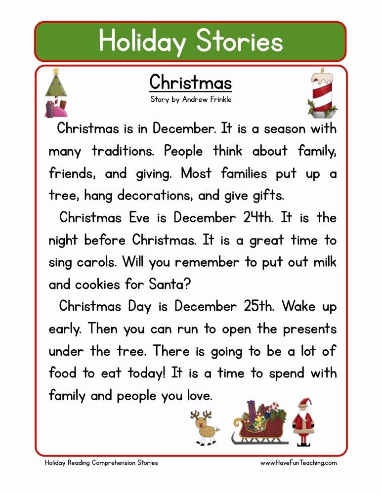 Free Christmas Reading Comprehension Worksheets Lovely Reading Prehension Worksheet Christmas