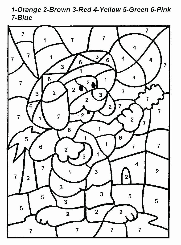 Free Color by Numbers Worksheets top Coloring Sheet Pages for Kids with Numbers Stunning Image
