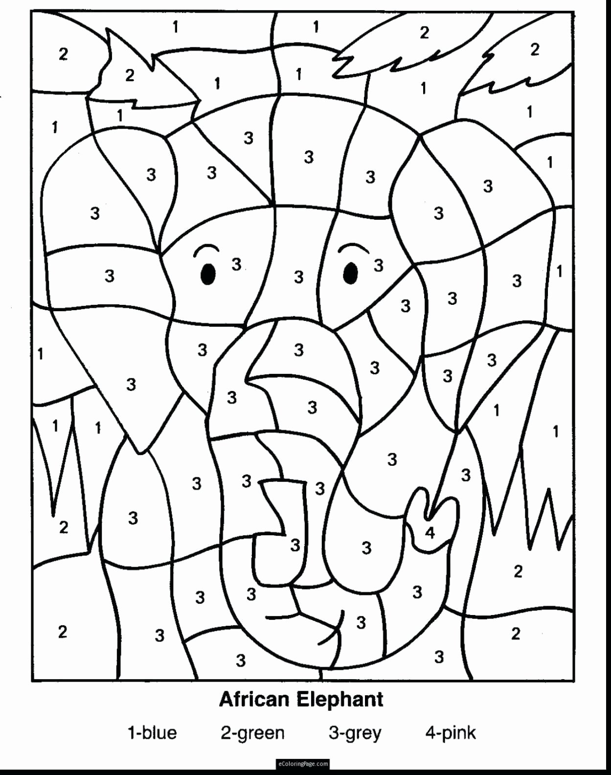 Free Color by Numbers Worksheets top Free Color by Number Math Worksheets 4th – Kingandsullivan