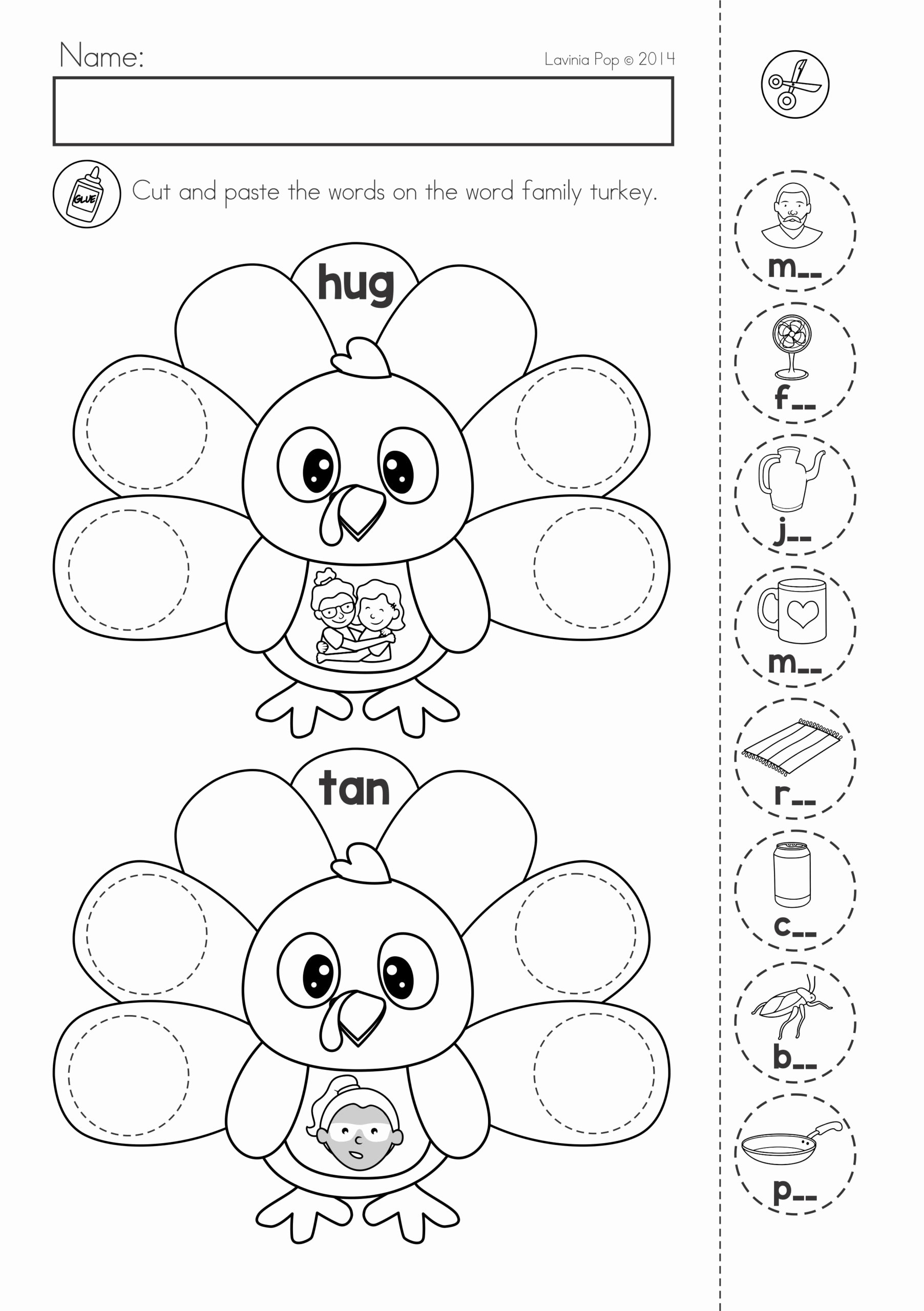 Free Cut and Paste Worksheets Free Free Preschool Printables Cut and Paste Worksheet Four Line