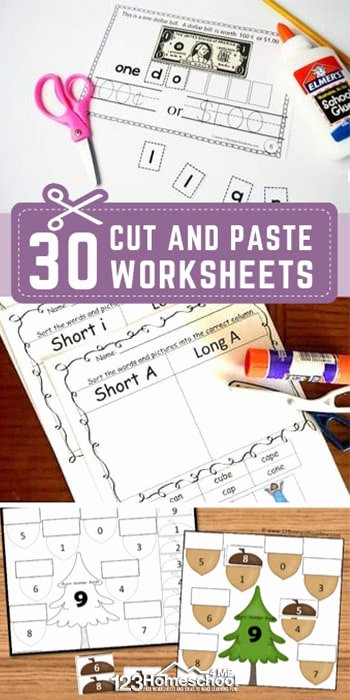 Free Cut and Paste Worksheets Fresh 30 Free Cut and Paste Worksheets
