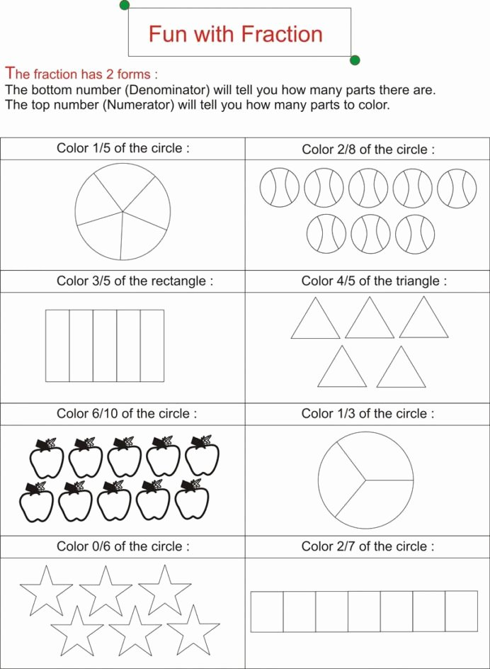 Free First Grade Fraction Worksheets Fresh Fraction is Fun Worksheets Free Ks2 Math Addition Sheets for