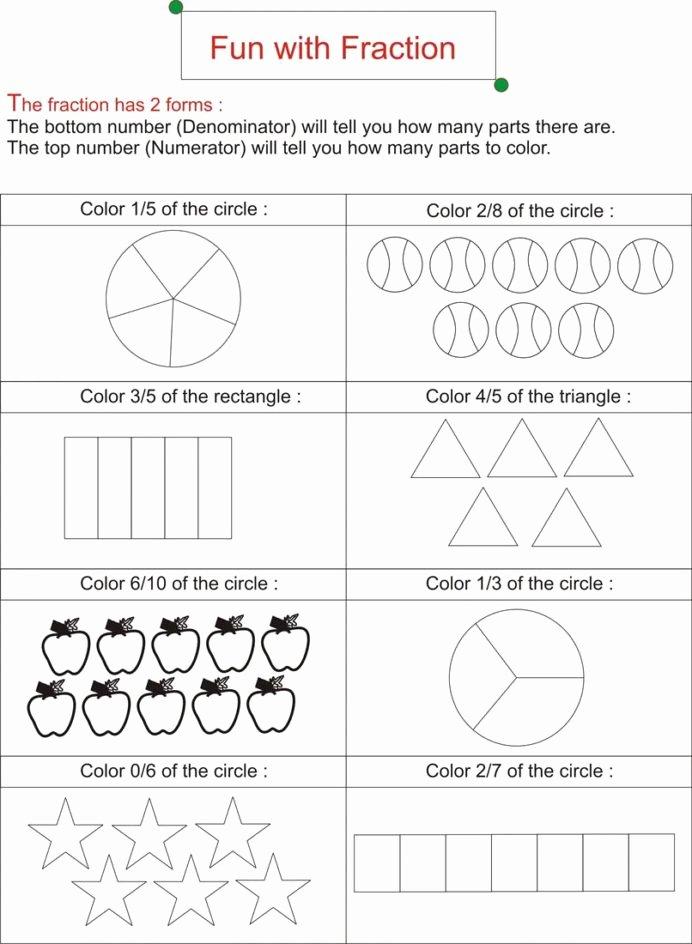 Free First Grade Fraction Worksheets Fresh Fraction is Fun Worksheets Free Ks2 Math Addition Sheets for