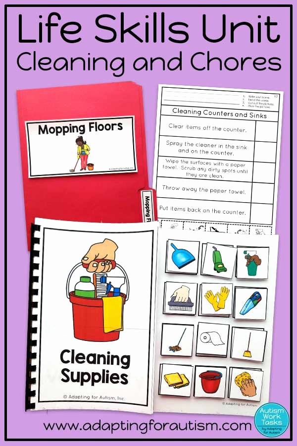 Free Independent Living Skills Worksheets Printable Life Skills Activities for Teaching Cleaning and Chores