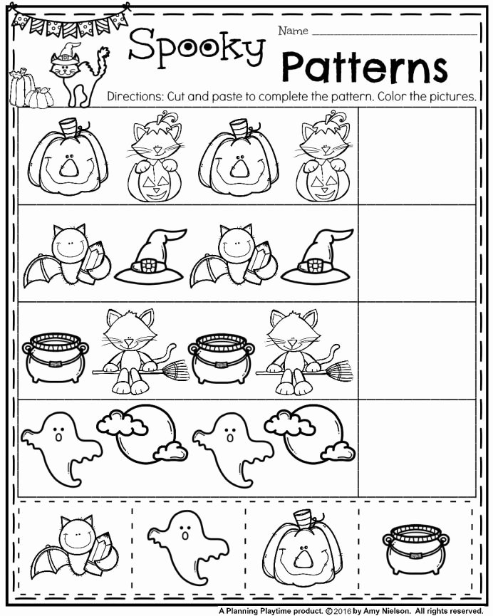 Free Kindergarten Halloween Worksheets Printable top Worksheets Printables Activities Free Coloring Childrens