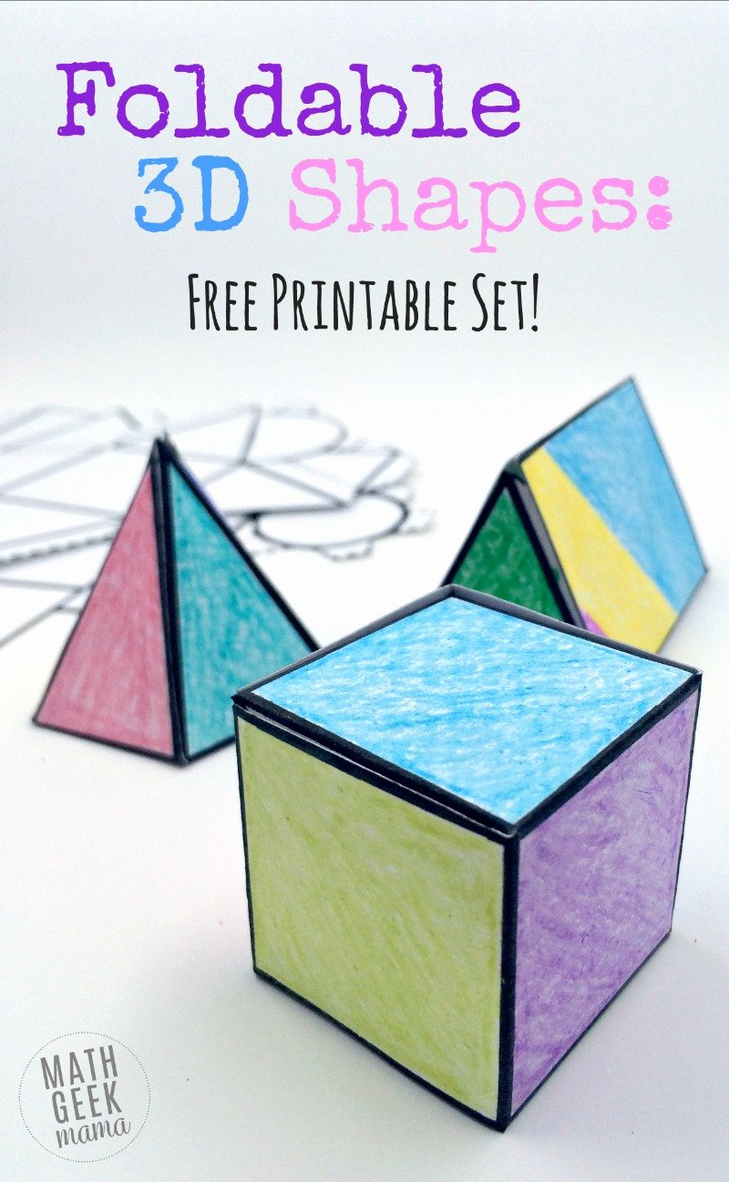 Free Printable 3d Shapes Worksheets Ideas Foldable 3d Shapes Free Printable Nets