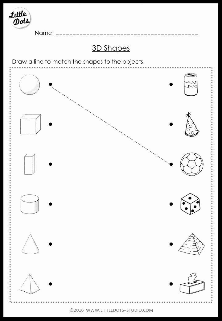 Free Printable 3d Shapes Worksheets Inspirational Kindergarten Math 3d Shapes Worksheets and Activities