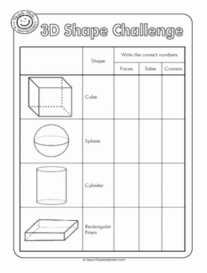 Free Printable 3d Shapes Worksheets Kids 3d Shapes Worksheets