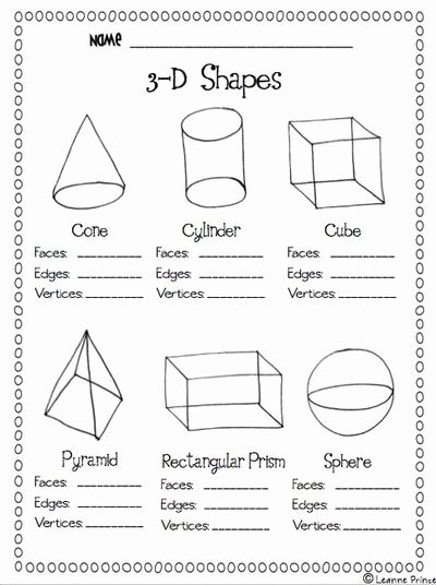 Free Printable 3d Shapes Worksheets top 5 Best Printable 3d Shapes Kindergarten Printablee
