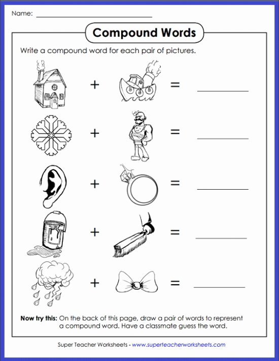 Free Printable Compound Word Worksheets Free Pound Words Worksheets