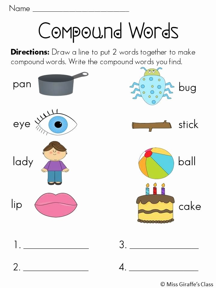 Free Printable Compound Word Worksheets Fresh Pound Words Worksheets and Activities Mega Pack
