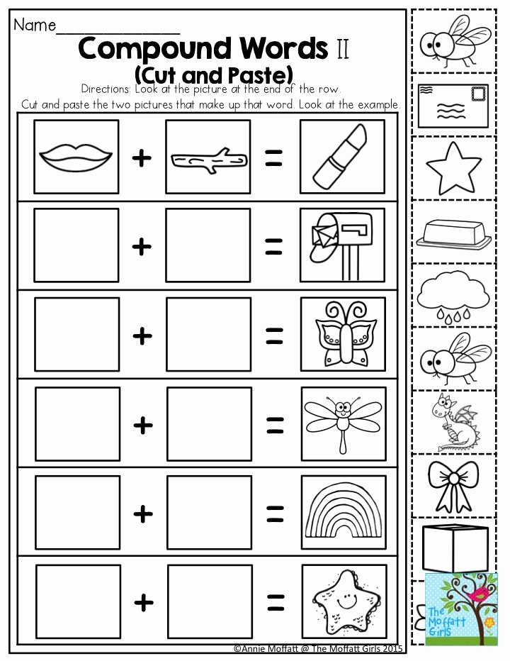 Free Printable Compound Word Worksheets Kids Pound Words Such A Fun Activity for Kindergarten