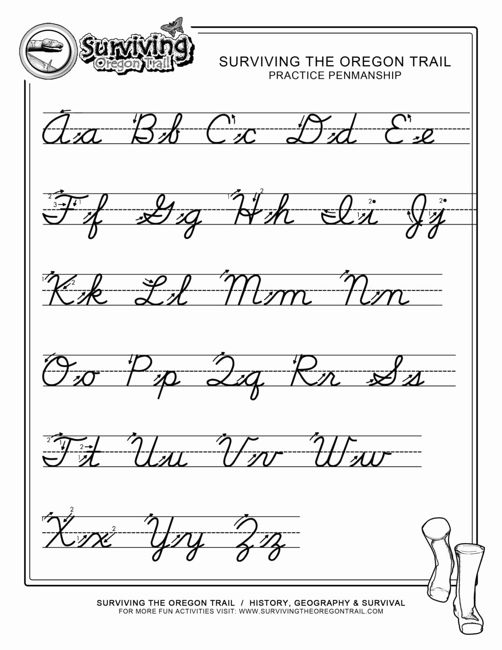 Free Printable Cursive Alphabet Chart Free Worksheet Free Printable Cursive Handwriting Alphabet