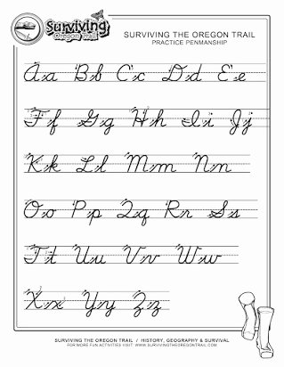 Free Printable Cursive Alphabet Chart top Free Print Out Of Cursive Alphabet