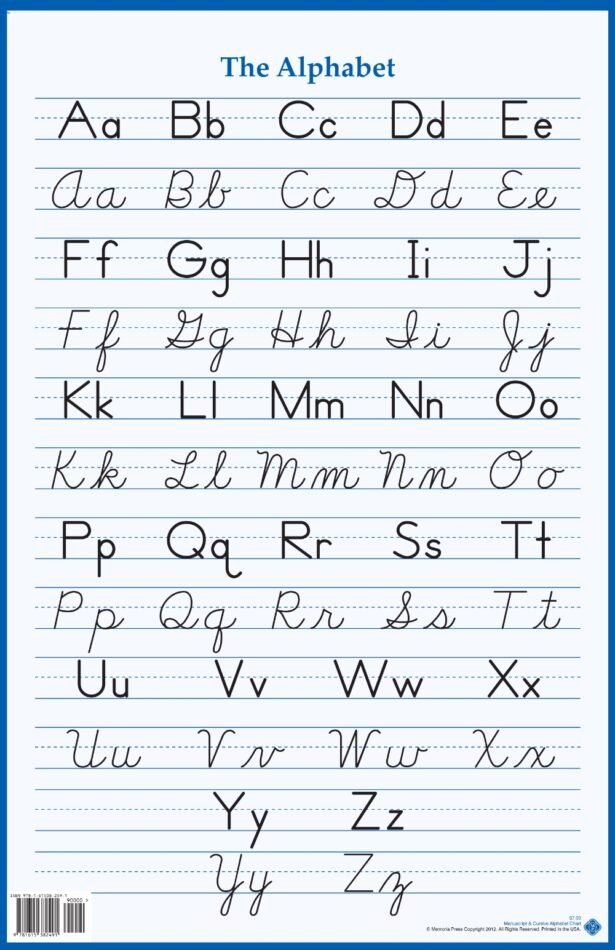 Free Printable Cursive Alphabet Chart top Worksheets Cursive Alphabet Chart Cursive Letters Chart