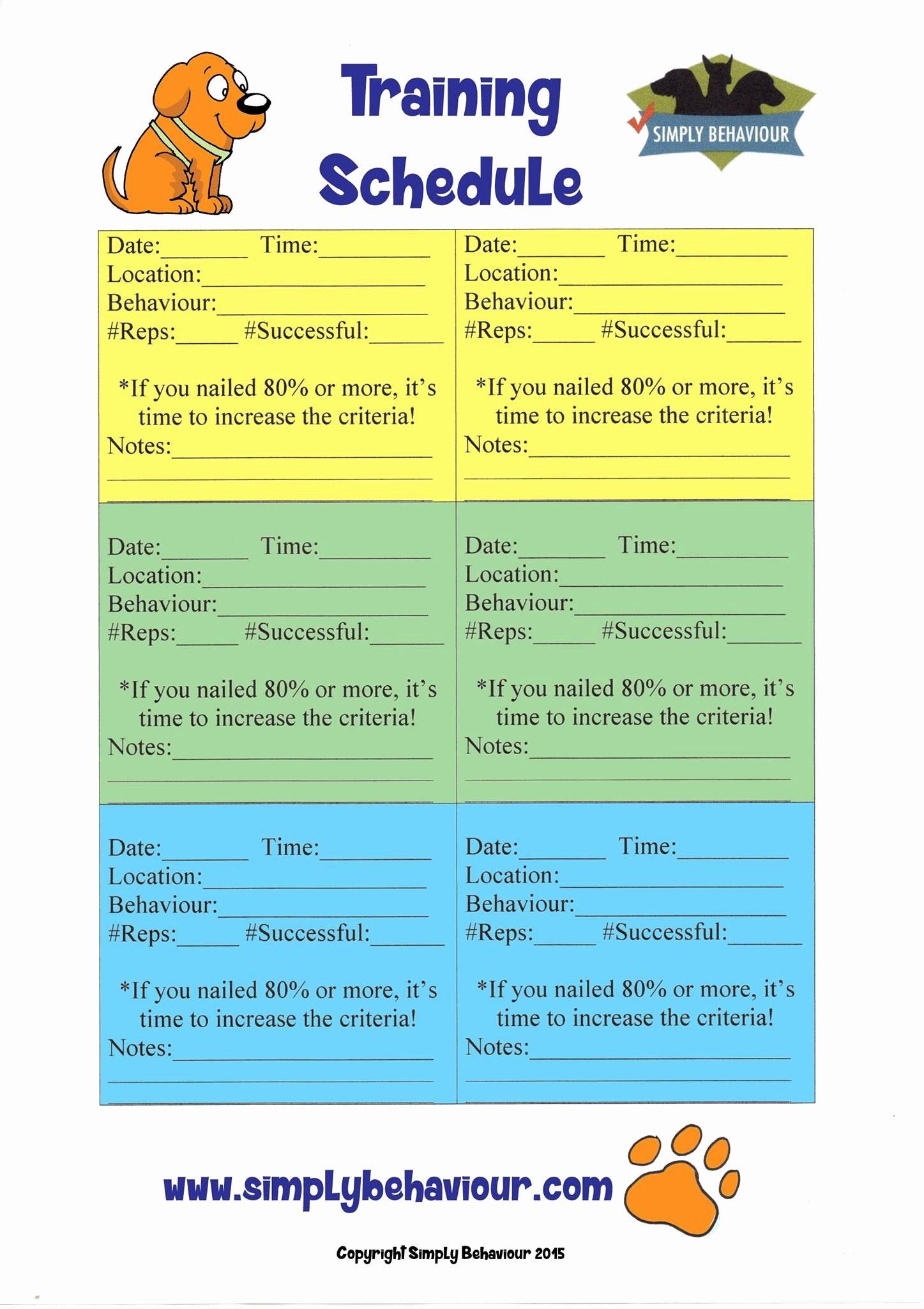 Free Printable Dog Training Worksheets Printable Dog Training Worksheets