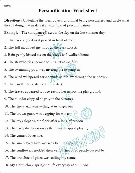 Free Printable Figurative Language Worksheets Fresh Free Printable Figurative Language Worksheets 30 Free