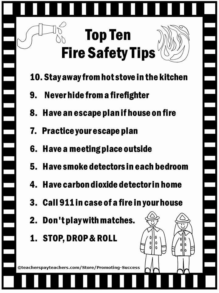 Free Printable Fire Safety Worksheets Ideas top 10 Home for Safety Tips Fire Safety Worksheets for