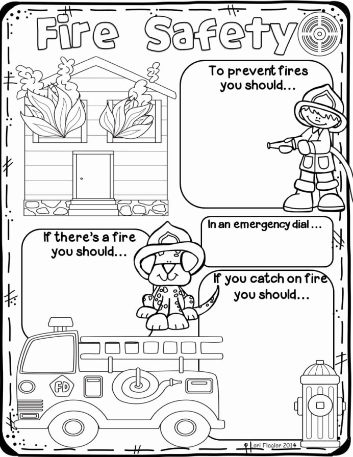 Free Printable Fire Safety Worksheets Lovely Fire Safety Preschool Worksheets for Elementary Fun Math