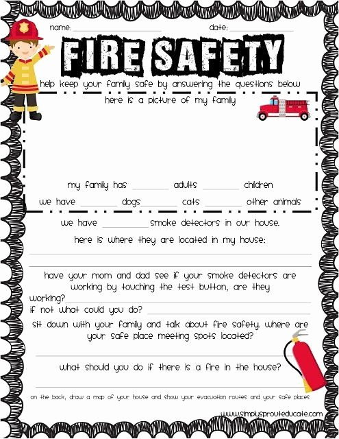 Free Printable Fire Safety Worksheets New Free Printable Fire Safety Worksheets Free Fire Safety