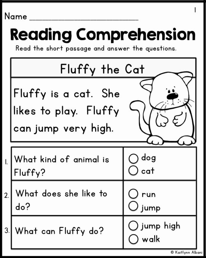Free Printable Kindergarten Fluency Passages Free Kindergarten Reading Prehension Passages Set Freebie Free