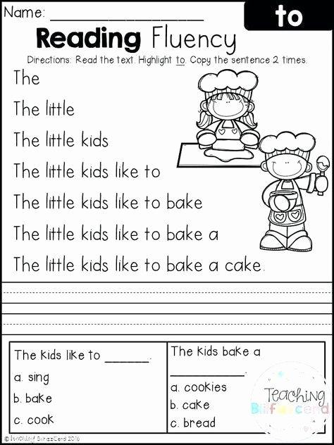 Free Printable Kindergarten Fluency Passages Fresh Free Printable Kindergarten Fluency Passages Free Printable