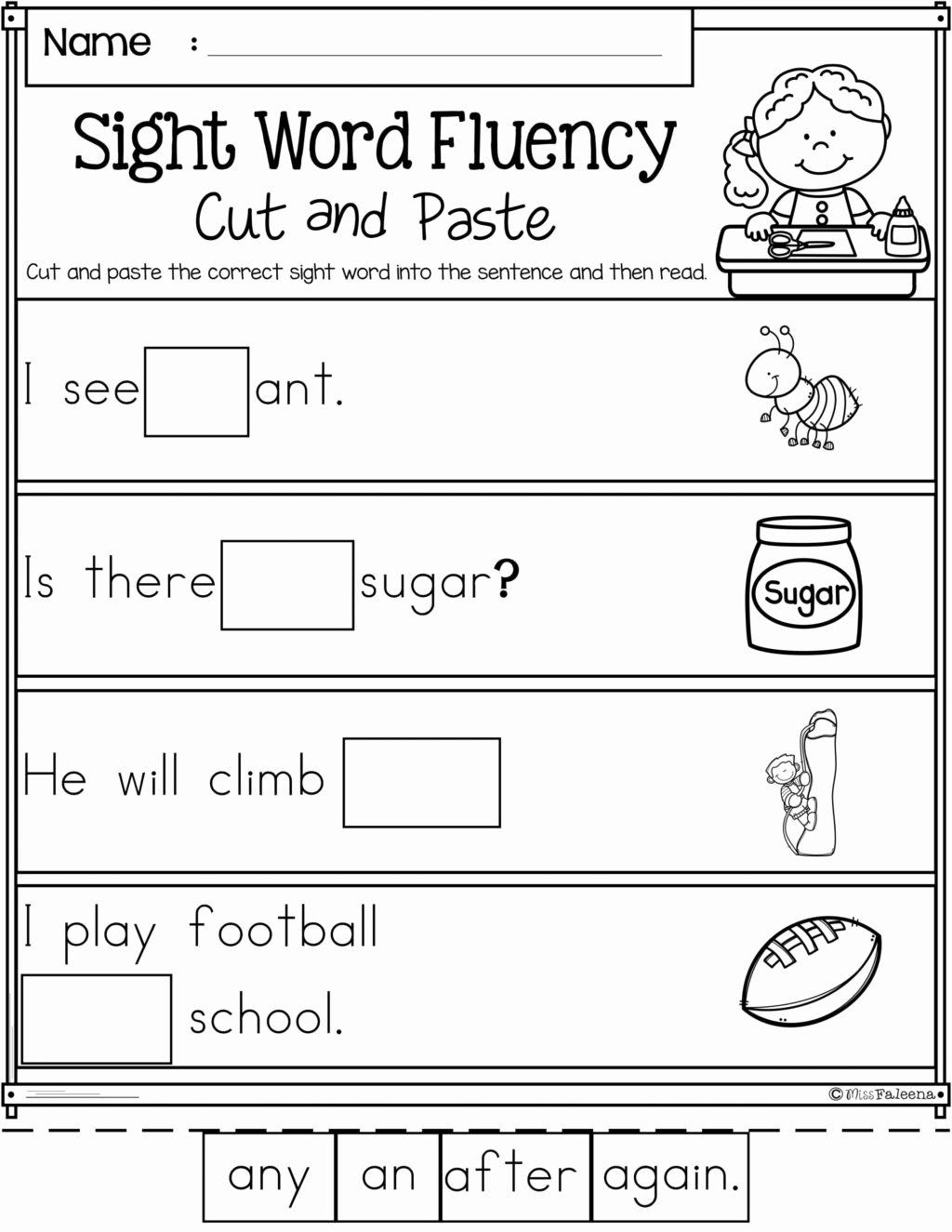 Free Printable Kindergarten Fluency Passages Fresh Worksheet 1st Gradeing Passages Worskheets Worksheet Ideas