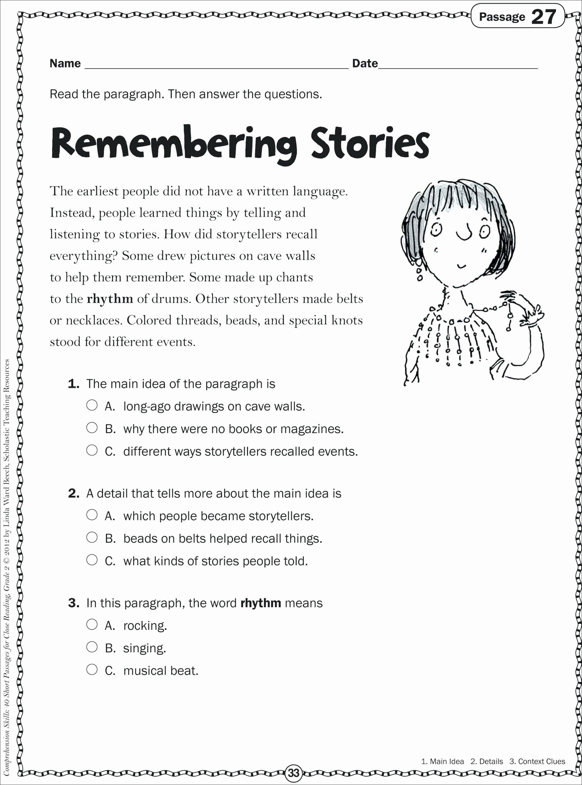 Free Printable Kindergarten Fluency Passages Inspirational Math Worksheet Reading Fluency Passages 2nd Grade