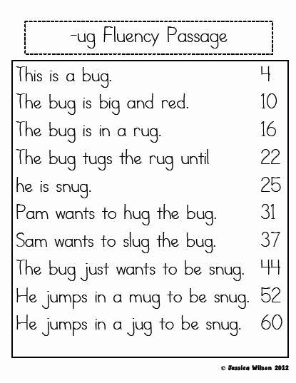 Free Printable Kindergarten Fluency Passages Lovely Free Printable Kindergarten Fluency Passages Little Learning