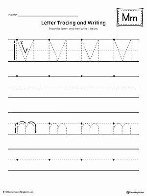 Free Printable Letter M Worksheets Best Of Letter M Tracing and Writing Printable Worksheet