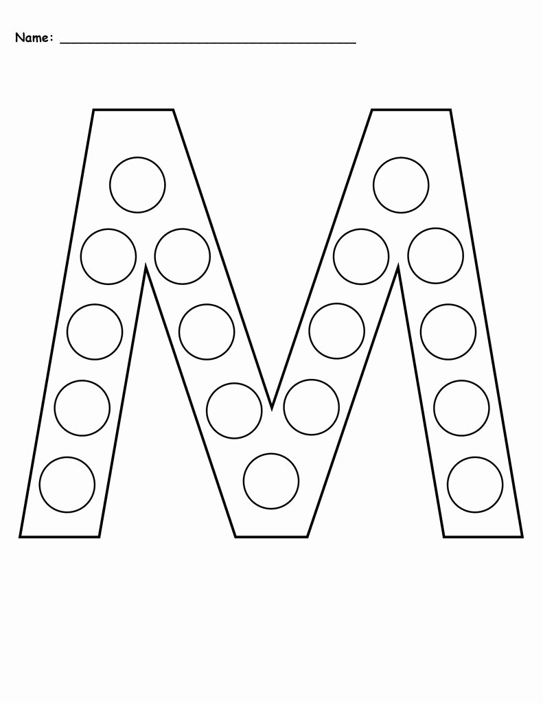 Free Printable Letter M Worksheets Kids Letter M Do A Dot Printables Uppercase & Lowercase