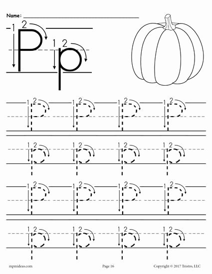 Free Printable Letter P Worksheets Lovely Printable Letter P Tracing Worksheet with Number and Arrow