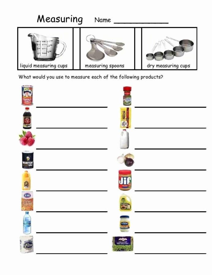 Free Printable Life Skills Worksheets Lovely Measuring Devices with Teaching Life Skills Free