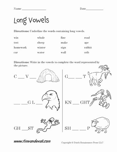 Free Printable Long Vowel Worksheets Free Free Long Vowel Worksheets