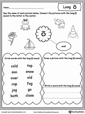 Free Printable Long Vowel Worksheets Ideas Long O sound Worksheet
