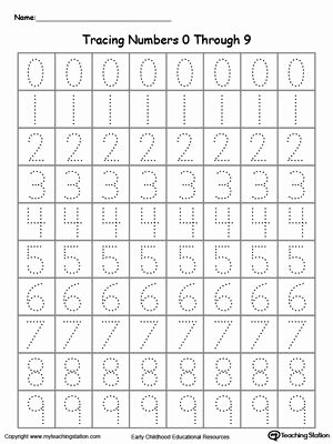 Free Printable Number Tracing Worksheets Ideas Tracing Numbers 0 Through 9