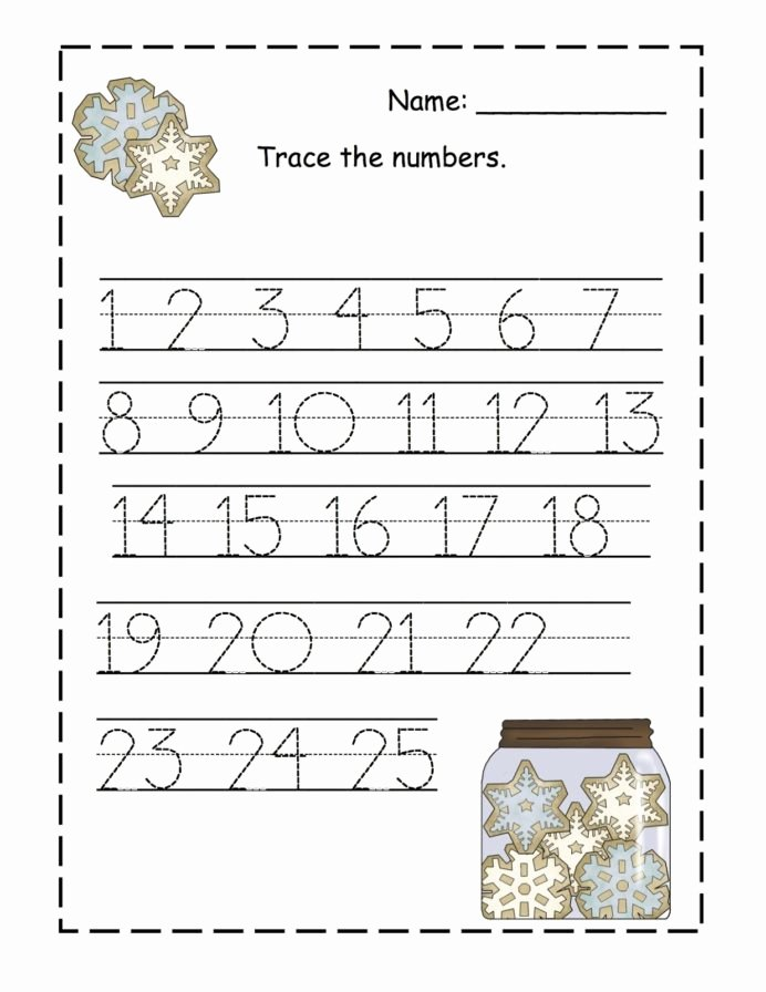 Free Printable Number Tracing Worksheets Lovely Trace Numbers Activity Shelter Preschool Number Tracing