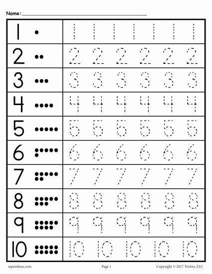 Free Printable Number Tracing Worksheets New Free Printable Tracing Worksheet Numbers 1 10